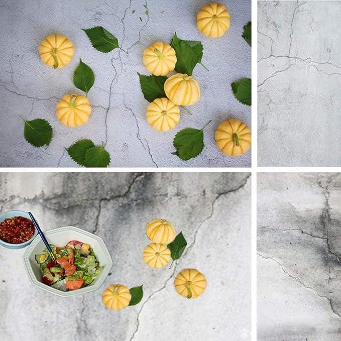 2 In 1 Betonmauer Hintergrund Für Feinschmecker Konditorei Foto Shooting Doppelseitiges Muster Fotografie Kulissen Nahtlose Papier