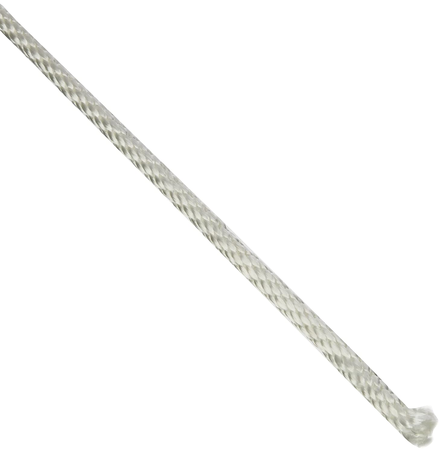 White HORIZON DISTRIBUTION 710080-00500-0 Cordage Source Solid Braided Nylon Rope 1//4-Inch by 500-Feet