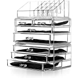 Unique Home Acrylic Jewelry and Cosmetic Storage Makeup Organizer Set, 3 Piece