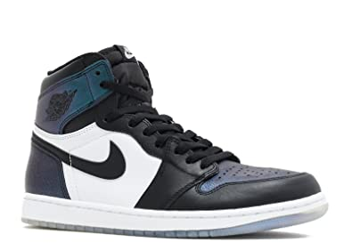Jordan Men's Air 1 Retro High OG AS, BLACK/BLACK-METALLIC SILVER-
