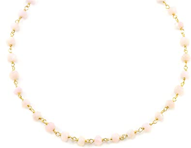 Natural Pastel Peruvian Pink Opal 23mm Diamond Cut Beaded Necklace and Earrings Jewelry Set