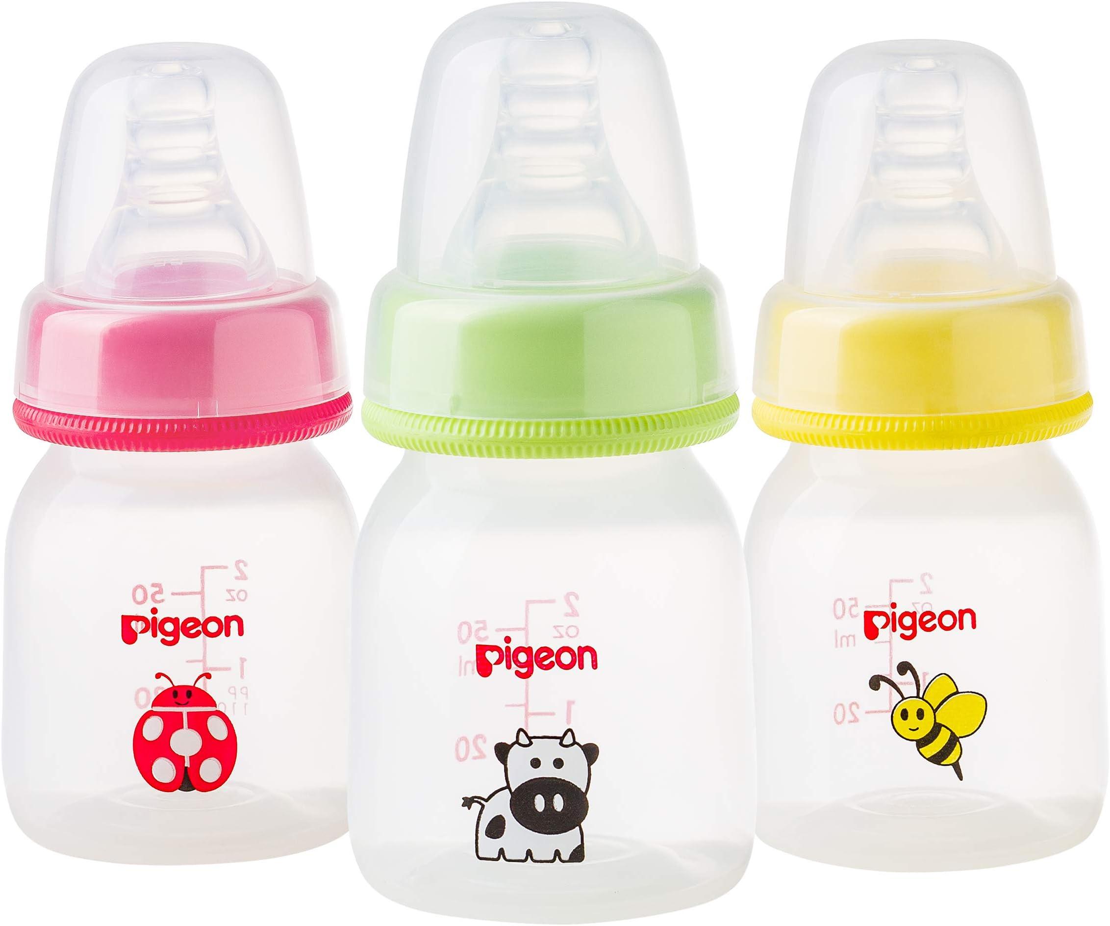 زجاجة رضاعة تمعجية، بسعة 50 مل - بألوان متنوعة