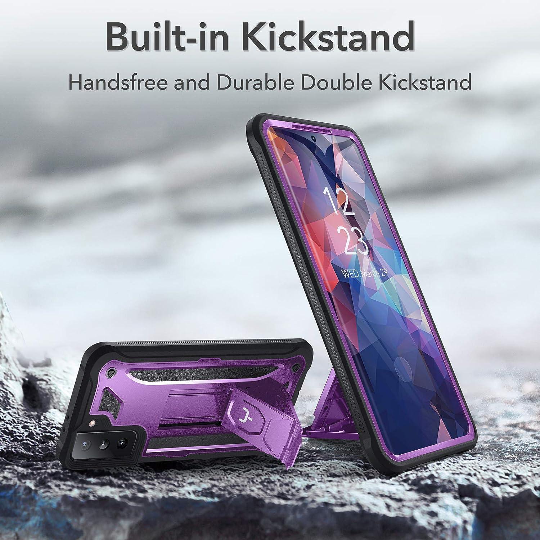 YOUMAKER Coque Samsung S21 Coque S21 avec Protecteur d/écran Int/égr/é S21 5G Protection 360 Antichoc avec Support Adapt/ée pour Samsung S21 5G 6.2 Pouces Violet