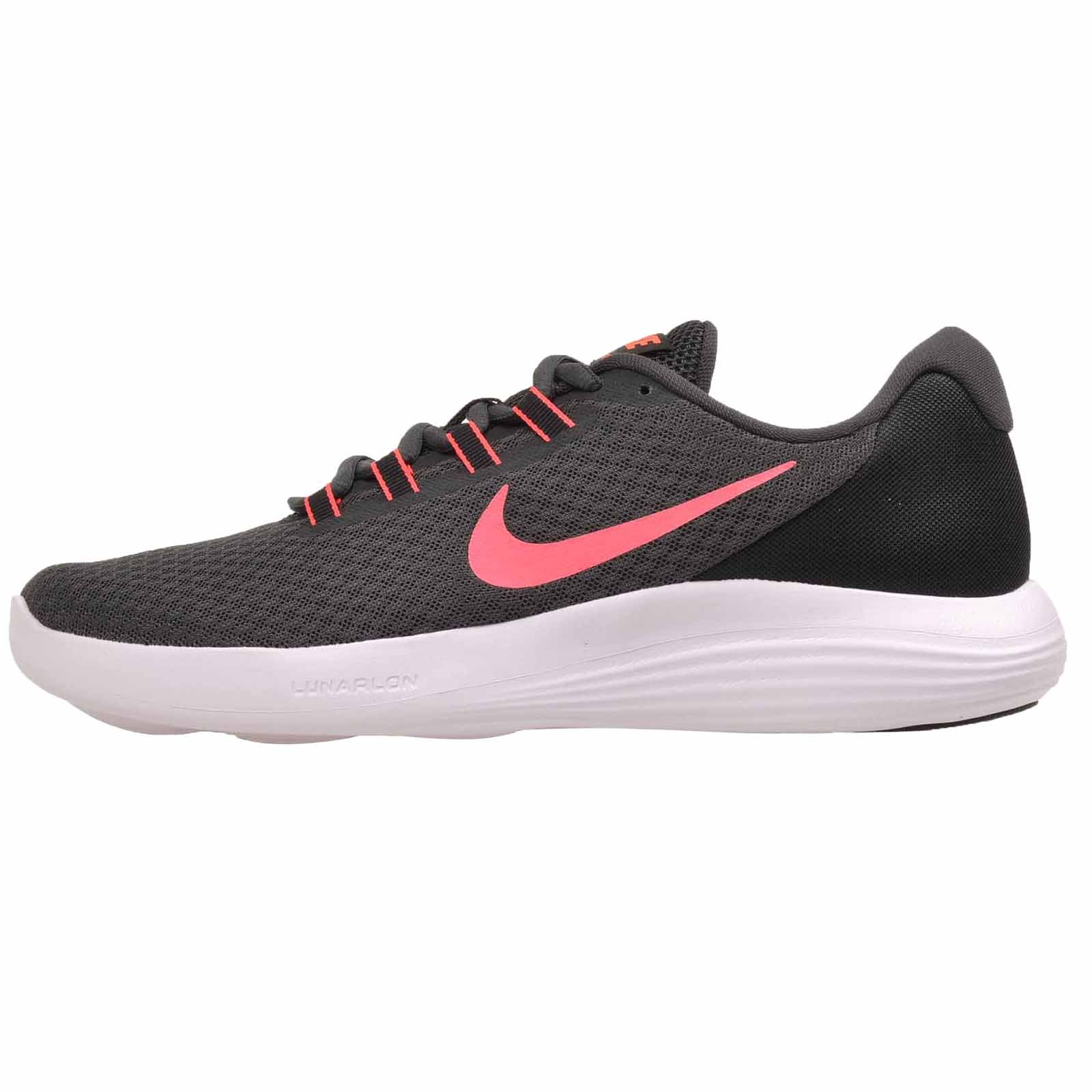 NIKE Womens Luanrconverge Running Trainers (10.5 B(M) US, Anthracite Hot Punch Black 002)