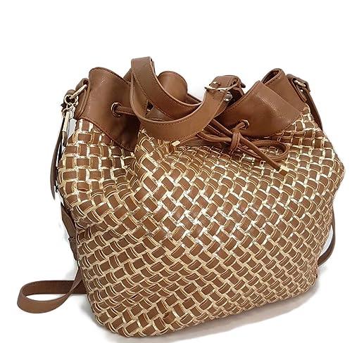 Rocco Barocco - Bolso estilo cartera para mujer marrón MARRONE-ORO: Amazon.es: Zapatos y complementos