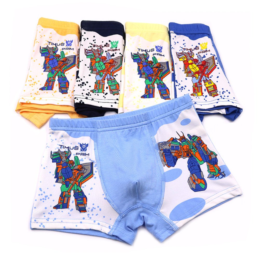 YUMILY 2-9 Years Old Boys Character Transformers Boxer Briefs Vivid Underwear 5 Pack CAETNK1706231