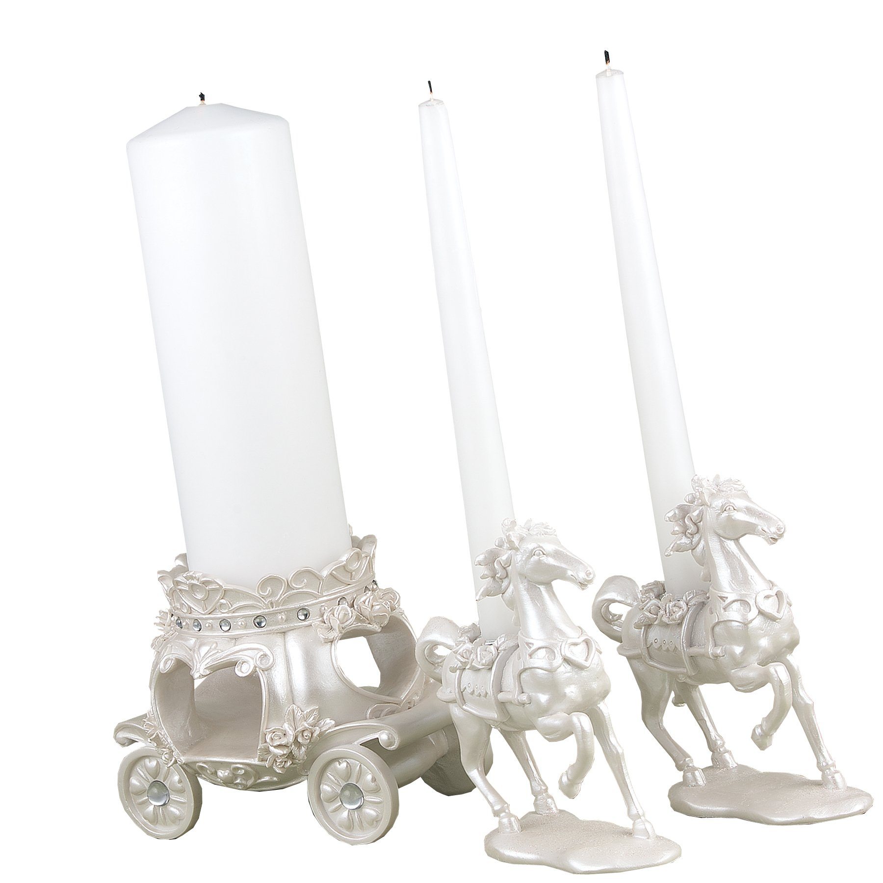 Hortense B. Hewitt Wedding Accessories, Unity Candle Stand, Once Upon a Time, 3 Pieces by Hortense B. Hewitt
