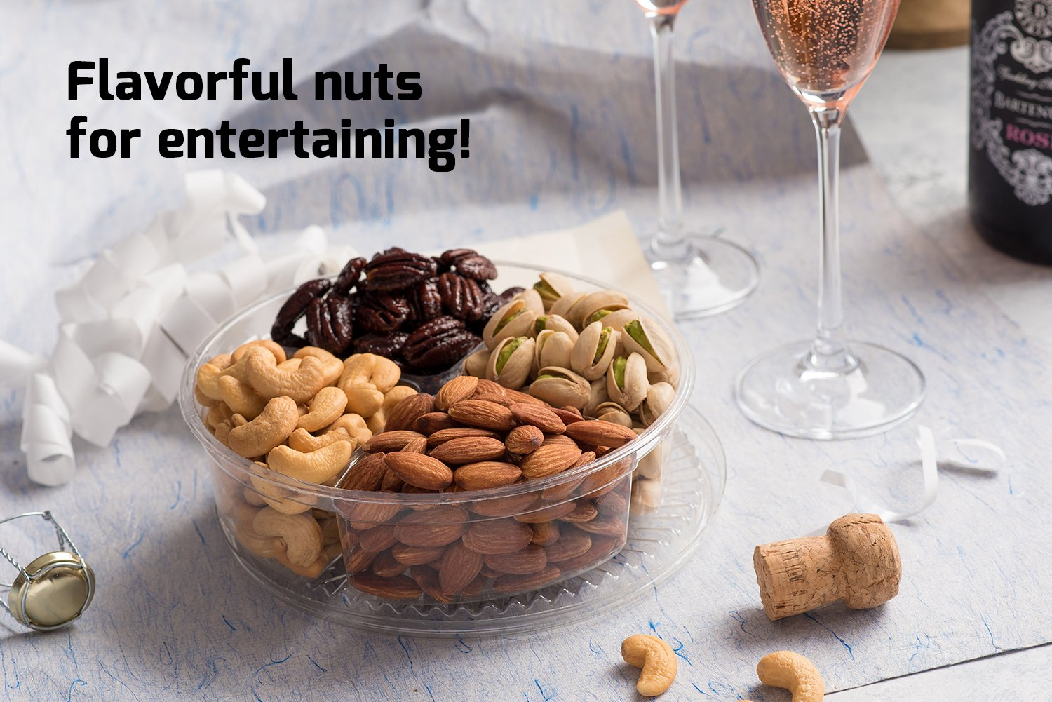 Nut Cravings Father's Day Gift Baskets - 4-Sectional Gourmet Mixed Nuts Prime Food Gift Tray - Healthy Holiday Gift Assortment For Birthday - Sympathy - Get Well - Corporate Gift Box - Or Any Occasion by Nut Cravings (Image #6)