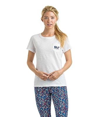 Vineyard Vines Women s Graphic Pocket T Shirt Stars   Whale Fill White ... acf63edd8a