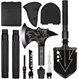 LIANTRAL Camping Shovel Axe Set- Folding Portable Multi Tool Survival Kits with Tactical Waist Pack, Camping Axe…