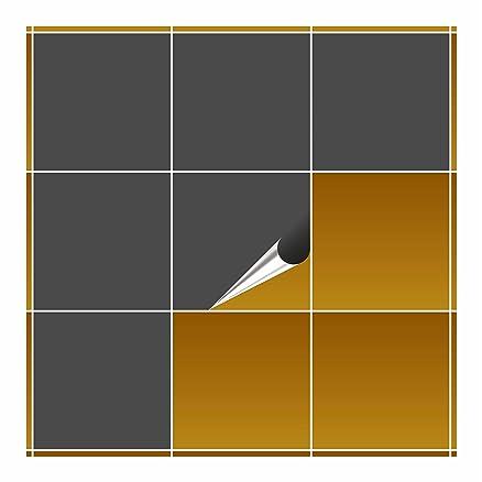 FoLIESEN – Adesivi per piastrelle per cucina e bagno – 20 x 20 cm ...