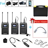 BOYA WM8 Pro-K2 Dual-Channel Wireless Lavalier Microphone System 2 Transmitter & 1 Receiver for DSLR Camera Recorder iPhone 8 x 7 6 Samsung Smartphone Youtube Street Interview Facebook Livesteam Vblog