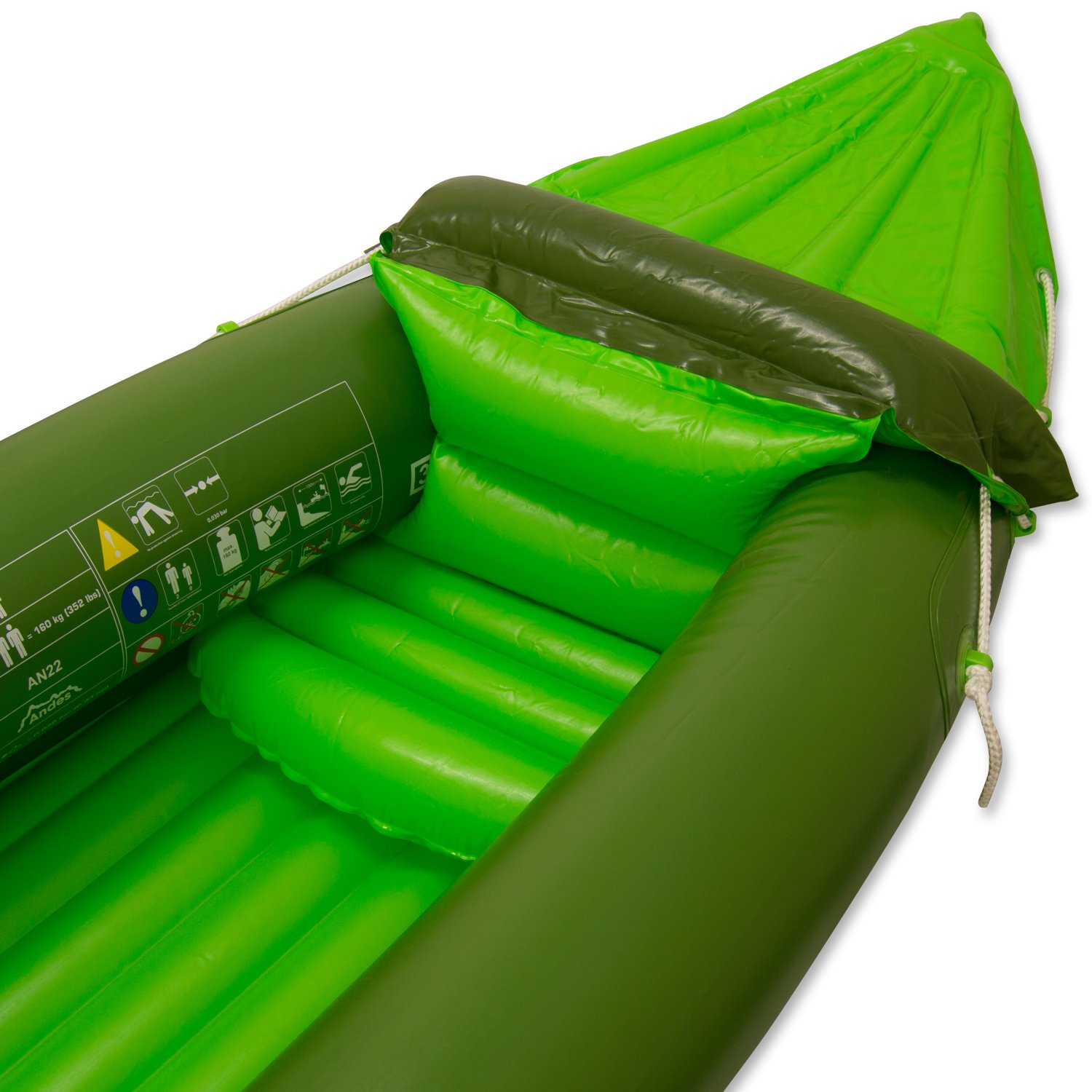 Andes Inflatable//Blow Up Two Person Kayak//Canoe With Paddle Water Sports