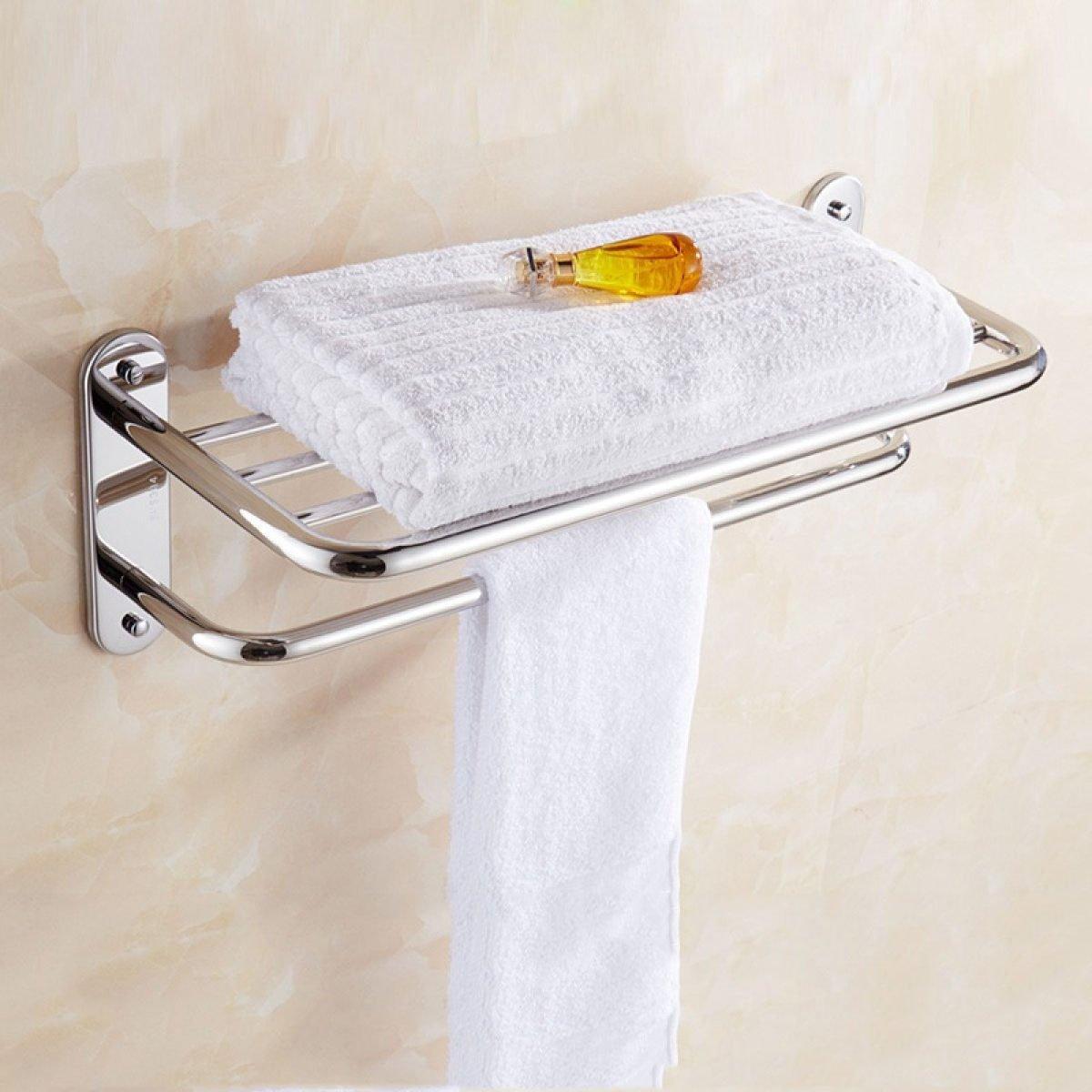 WHUA 304 Edelstahl Handtuchhalter Badezimmer Hardware Zubehör,DoubleLayer-40cm B074JYMF5R Toilettenpapieraufbewahrung