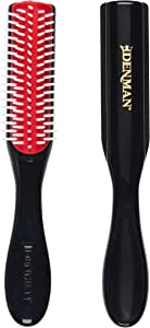 Denman Classic Styling Brush 5 Row D14 – Hair Brush for Separating, Shaping & Defining Curls - Blow-Drying, Styling & Detangling Brush – Black