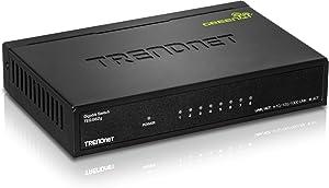 TRENDnet 8-Port Gigabit GREENnet Switch, TEG-S82G, Ethernet Splitter, Ethernet/Network Switch, 8 x 10/100/1000 Mbps Gigabit Ethernet Ports,16 Gbps Switching Capacity, Metal, Lifetime Protection