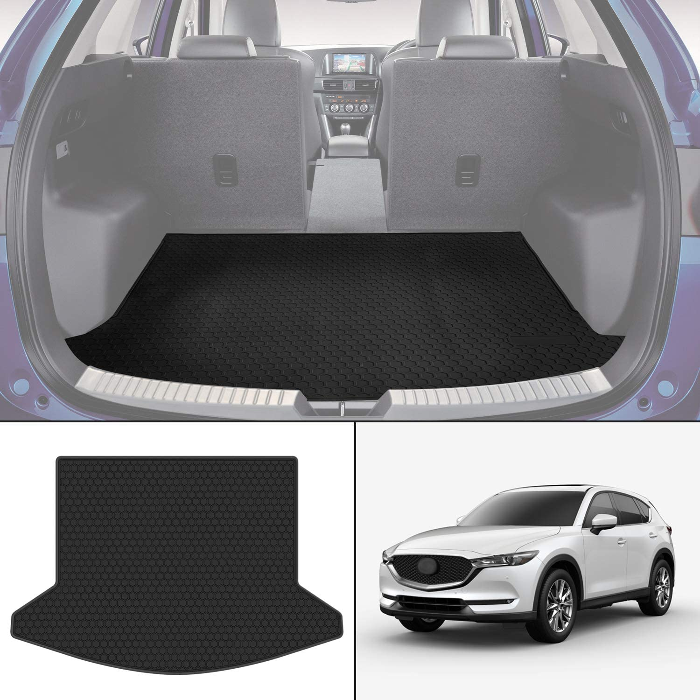 SMARTLINER Floor Mats 2 Row Liner Set Black for 2017-2018 Mazda CX-5