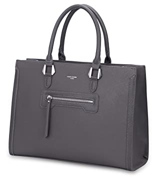 eef5a059b9 David Jones - Grand Sac à Main Femme - Cabas Fourre-Tout Cuir PU Rigide