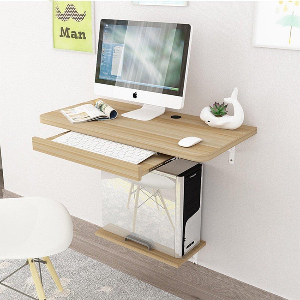 Computer MAZHONG Scrivania da tavolo pieghevole a scomparsa con tavolo fissabile a muro (Colore : A, dimensioni : 60cm*30cm)
