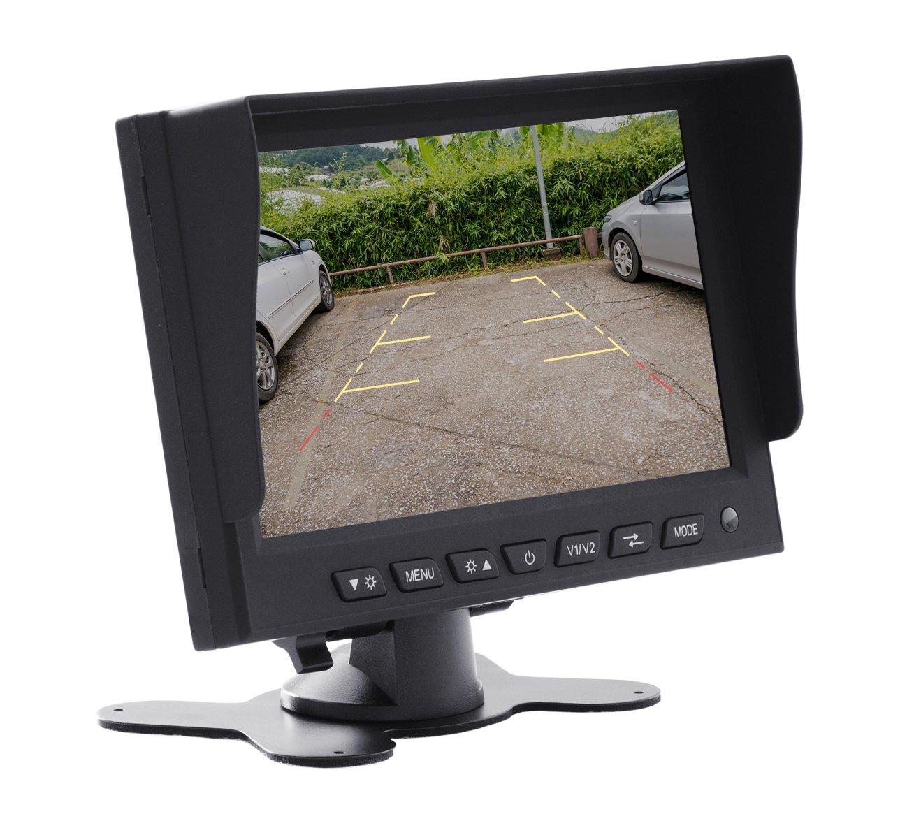 VSG  5 Allround-R/ückfahrmonitor 12-24 Volt//Kamerastromversorgung//Bildspiegelung 2 Videoeing/änge//e-Zulassung//Transporter Camping LKW//SELECT-Serie