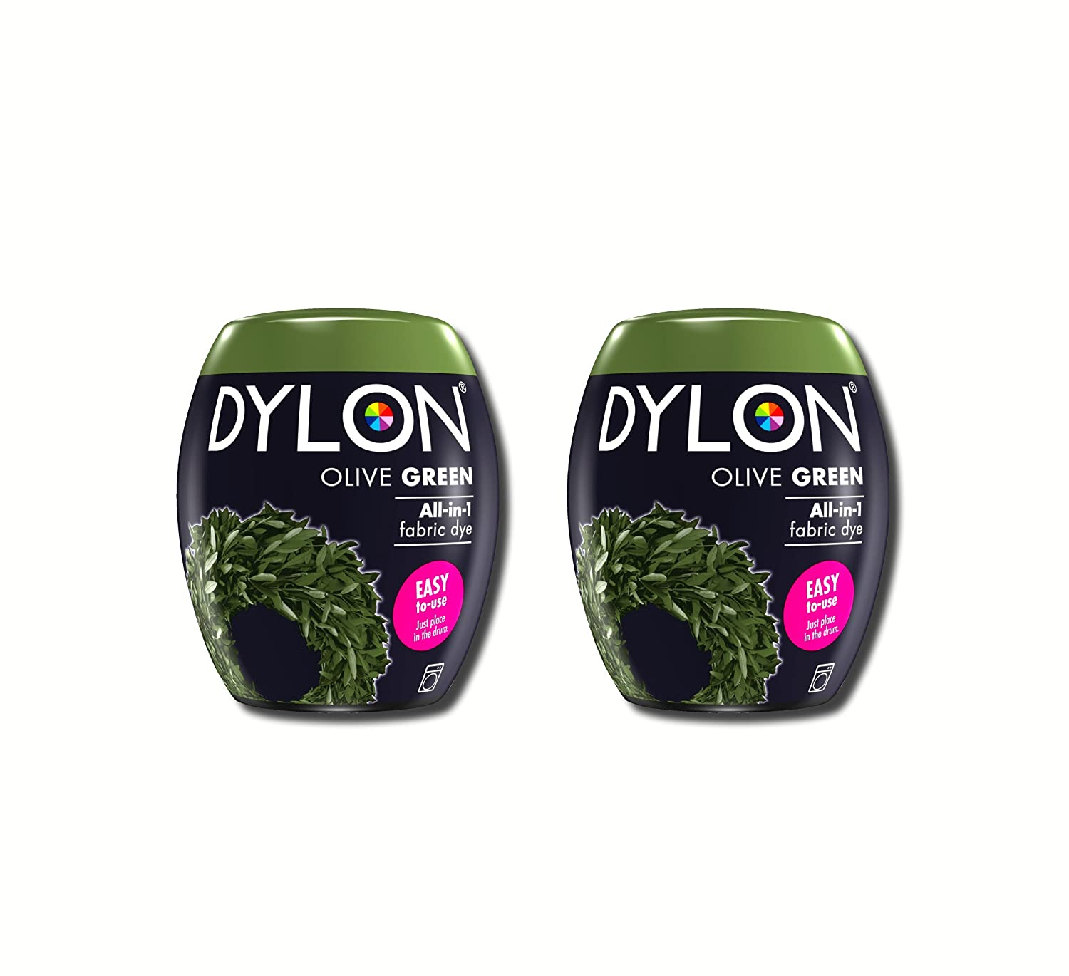 New Dylon 350g Olive Green Machine Dye Pod 2 Pack D ylon
