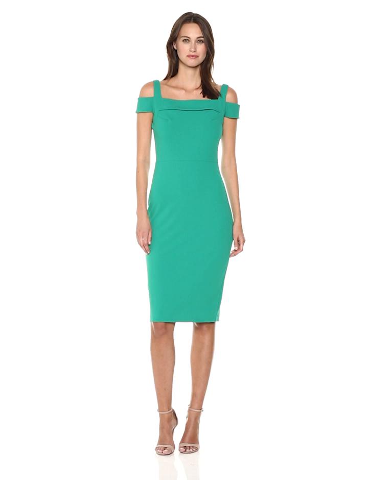 ECI New York Women s T-Strap Solid Scuba Sheath Dress at Amazon Women s  Clothing store  152a8530e