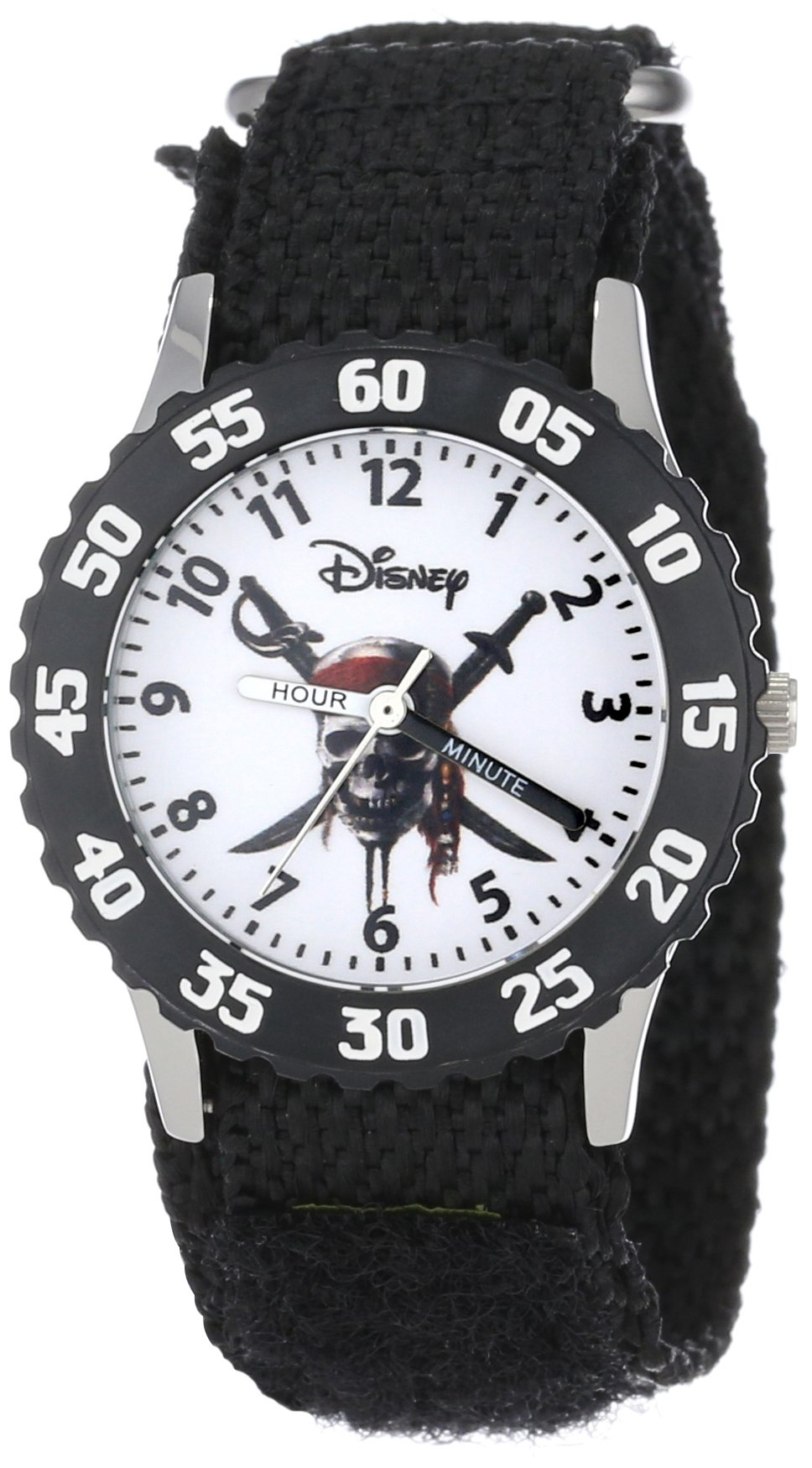 Disney Kids' W000153 ''Pirates of the Caribbean'' Stainless Steel Time Teacher Watch