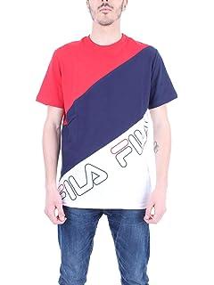 Fila Homme Guilo T Shirt à Rayures Rouge Amazonfr