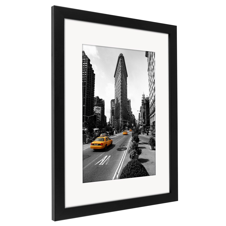 Amazon.de: 30x40 cm Schwarzer Bilderrahmen mit Glasfront - Geeignet ...