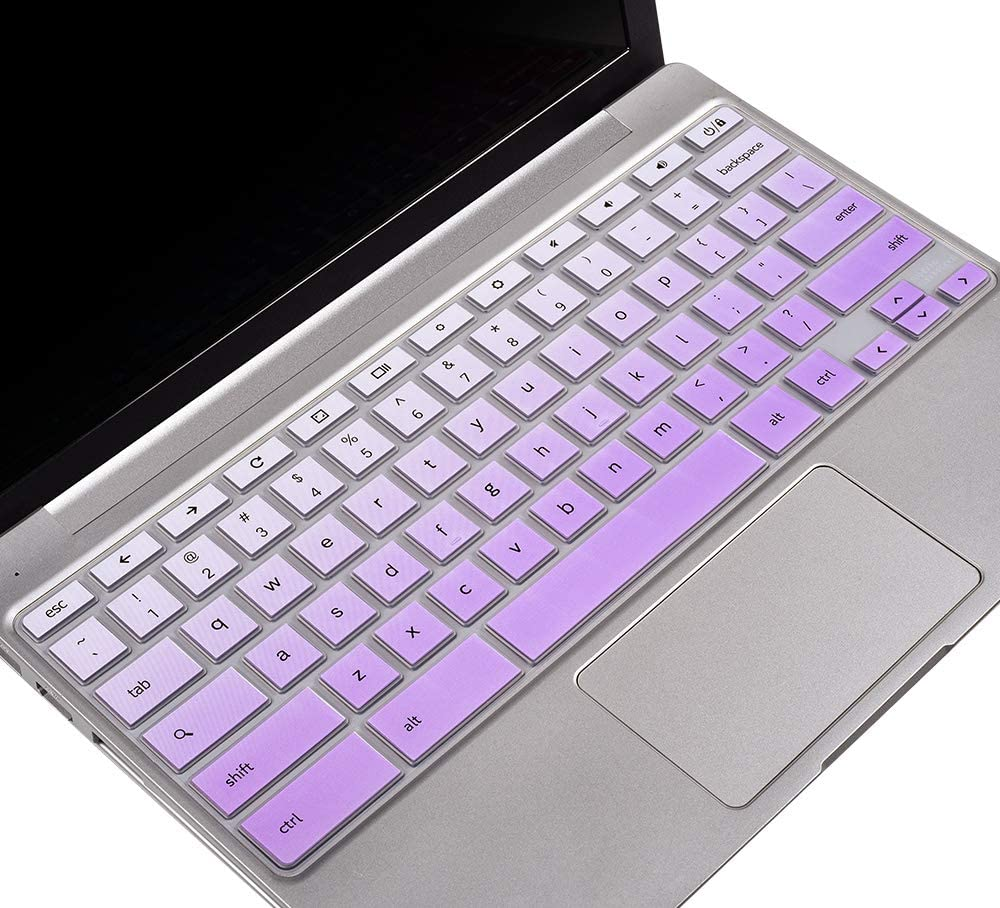 "Keyboard Cover for 2020-2017 Samsung Chromebook 4 3 XE310XBA XE500C13 XE501C13 11.6/Chromebook 4 XE350XBA 15.6/11.6 Chromebook 2 XE500C12 /Chromebook Plus V2 XE520QAB XE521QAB 12.2"" Skin, Ombre Purple"