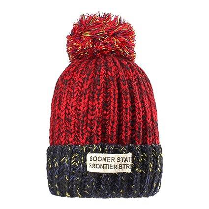 Sombreros de punto para las mujeres - YOPINDO Girls Beanie Hat lana de  invierno de invierno b98e8893fca