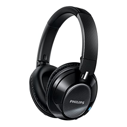 71e5e51713e Image Unavailable. Image not available for. Color: Philips SHB9850NC/27  Wireless Noise Canceling Headphones ...