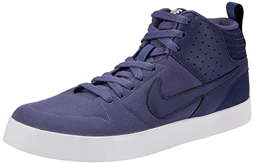536f0ff476 Nike Men s Liteforce III MID Blue and White Canvas Sneakers(669594-504)-