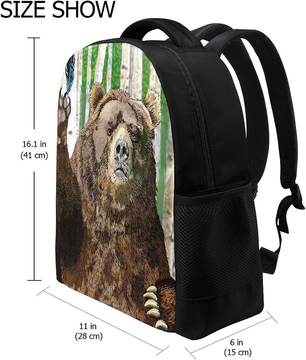 INTERESTPRINT Three Playful Animals Duffel Overnight Weekend Bag Travel Duffel Bag