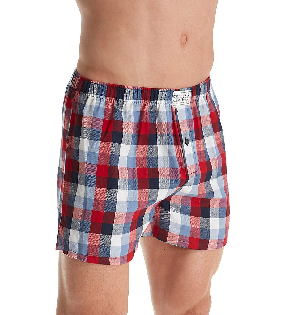 Lucky Americana Plaid Woven Boxer (181UH09) M/Peacoat Plaid