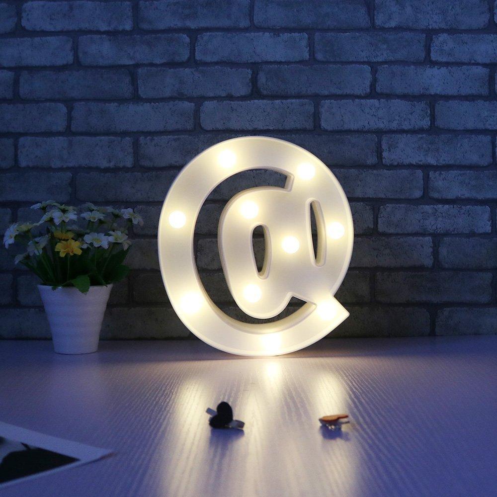 Missley Letras del LED letras blancas del alfabeto LED decorativo para la decoración de la boda del partido (B)