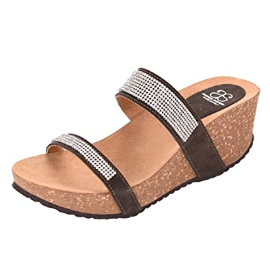 601ee84ac ANDREW STEVENS Monika Italian Studded Partywear Wedge Platform Sandals for  Women