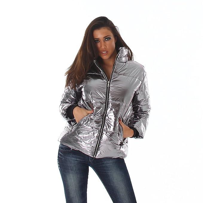 Voyelles - Chaqueta - chaqueta guateada - para mujer plata ...