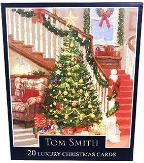 christmas cards tree 2 designs 24 pack luxury xmas tom smith quality verse gifts - Christmas Pollyanna