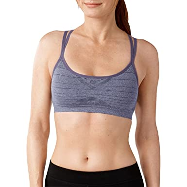 3384883533 SmartWool Women s PhD Seamless Double Strappy Bra Desert Purple Heather  Sports Bra XS