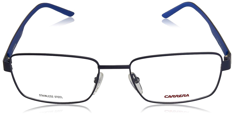 Carrera 8816 Eyeglass Frames CA8816-0PMW-5618 Lens Diameter 56mm Matte Blue Frame Distance