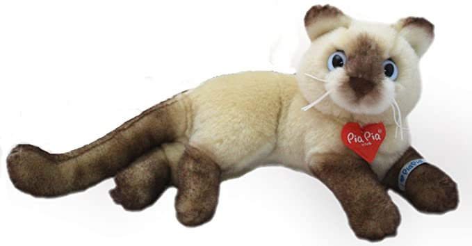 Pia Pia Club 17166 20 cm Bauer Lying Siam Cat Plush Toy