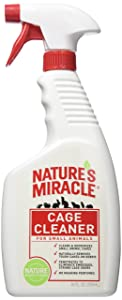 Nature's Miracle Cage Cleaner 24 fl oz, Small Animal Formula, Cleans Deodorizes Small Animal Cages
