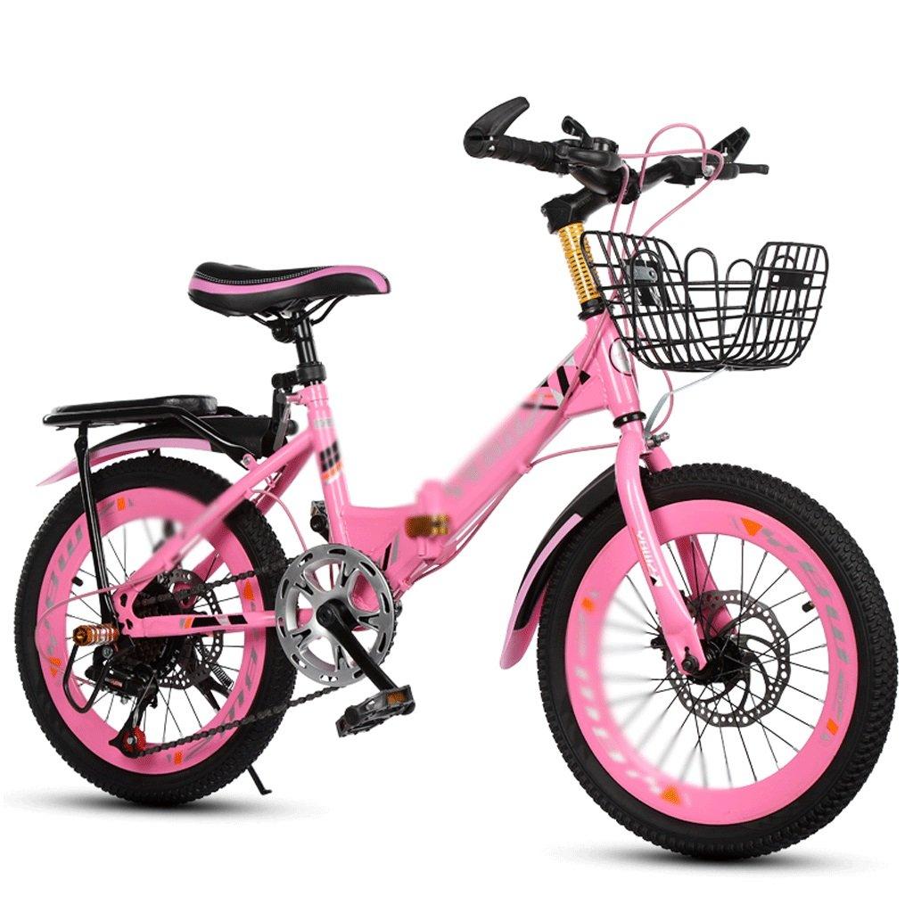 自転車 子供の自転車6-10-14歳の学生18-20インチのディスクブレーキポータブル折りたたみマウンテンバイク (サイズ さいず : 18 inch) B07DPNJL64 18 inch 18 inch
