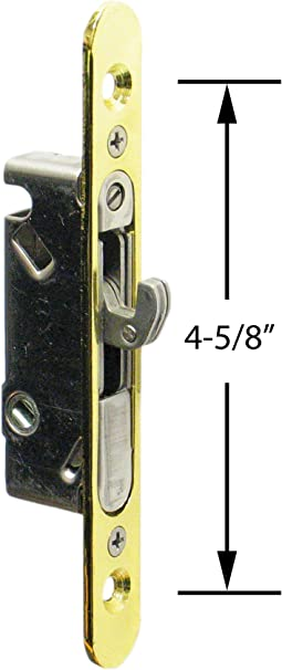 FPL #3-45-S Sliding Glass Door Replacement Mortise Lock with Adapter Plate 5...
