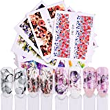 Dolland 40pcs Flower Series Nail Water Decal Stickers Multi Types Floral Pattern Transfer Sticker Gel Nail Manicure Nail Art Decoration