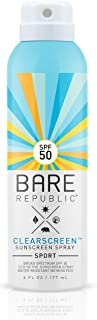 product image for Bare Republic SPF50 Clearscreen Spray: Sport (6 oz)