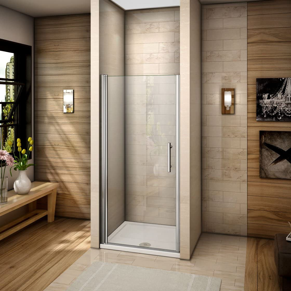 Mamparas de ducha pantalla baño 6mm Easyclean vidrio 100x195cm: Amazon.es: Bricolaje y herramientas