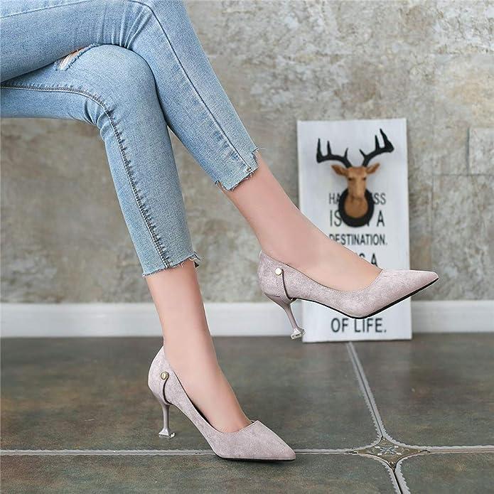 Tacones de Mujer Bombas de Las Mujeres Tacones Altos Agujas Solo Zapatos  hidráulicas Elegante Bomba de Correa  Amazon.es  Zapatos y complementos edf5cee50497