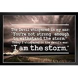 amazon com adonis554dan custom wood sign i am the storm